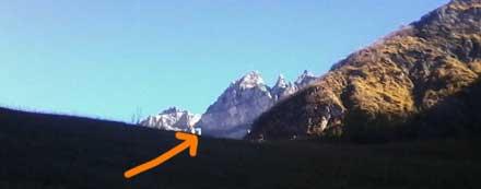 Martinsloch. Tschinger Hörner, Tschingler Alp