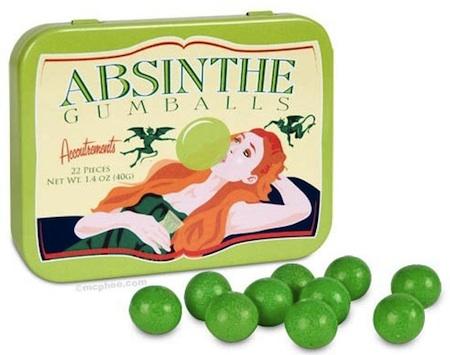 Absinthe, Absinthe chewing gum, Absinthe sweetie, Absinth absurd, Absinth Süssigkeit