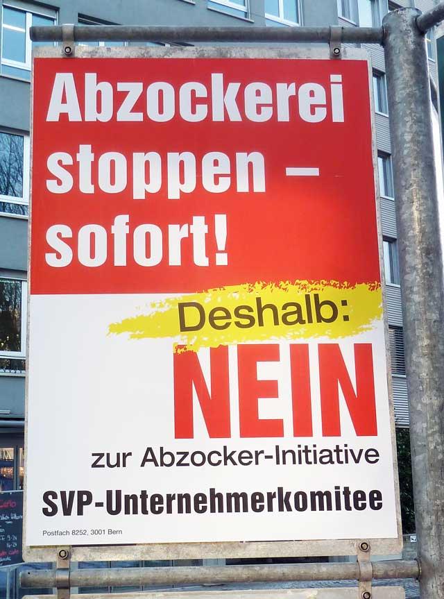 Abzocker initiative, Abzocker 2013, Abzocker Schweiz, Minder Initiative, Abzocker Kampagne, Abzocker Abstimmung