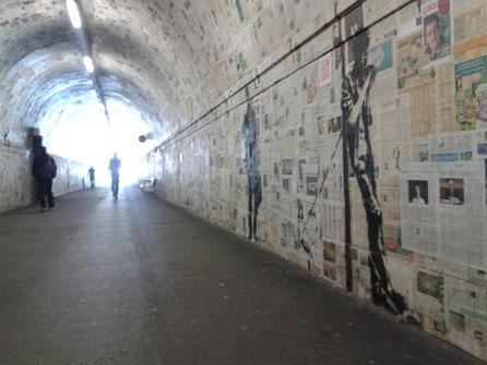 Bansky, Lugano, Tunnel