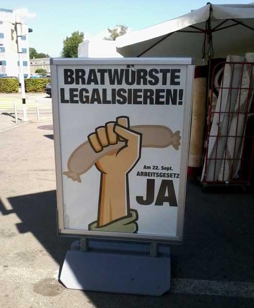 bratwurst legalisieren, bratwurst entscheid schweiz, bratwurst abstimmung 2013