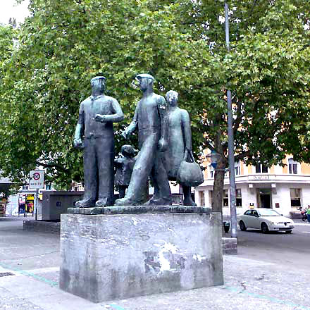 Denlmal der Arbeit,Arbeiter, ProletariarerallerLänder, Zürich, Karl Geiser, Helvetiaplatz, Arbeiterdenkmal