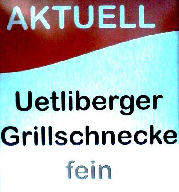 Grillschnecke, Uetliberg, Schnecken Essen