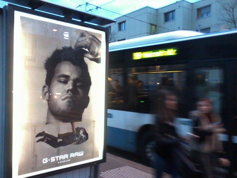 Magnus Carlsen Model, G-Straw Carlsen Kampagne, G-Straw Raw Kampagne 2014, Magnus Carlsen Werbung