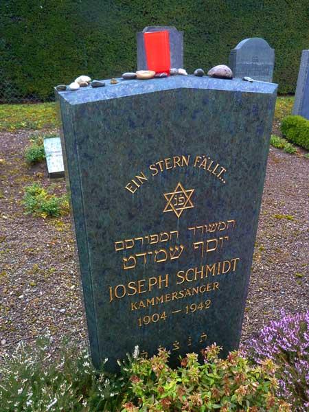 Joseph Schmidt, Joseph Schmidt Grabstätte, Joseph Schmidt Gravestone, Joseph Schmidt Grabstein, Joseph Schmidt Sänger, Joseph Schmidt Singer