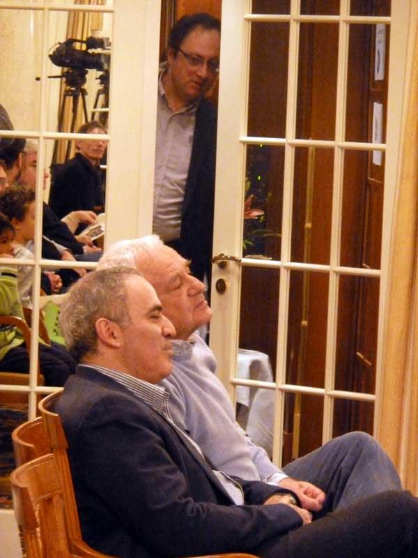Zürich Chess Challenge 2013, Kasparov, Sosenko, Gelfand, Kasparov kibitzing in Zurich, Zurich Chess 2013