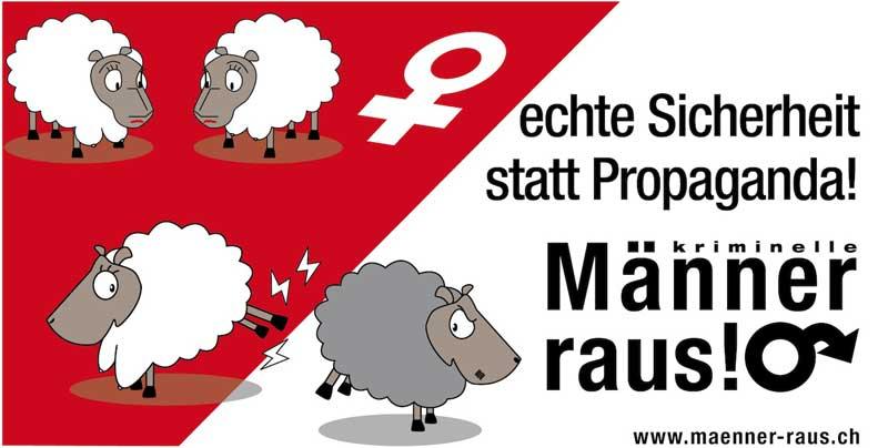 Maenner raus, Männer raus, Männer raus Initiative, Maenner raus Initiative Schweiz