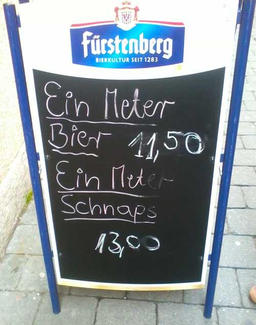 Pilsbar Schmiede Konstanz, Meter Bier, Meter Schnaps, Bier und Schnaps, Alkoholtest