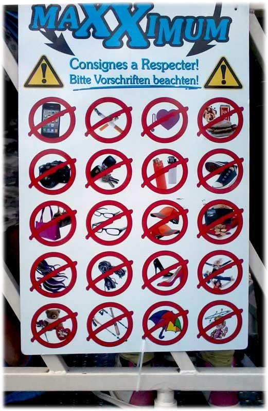 maxximum, chilbi karusell, chilbo vorschriften, verbots logo