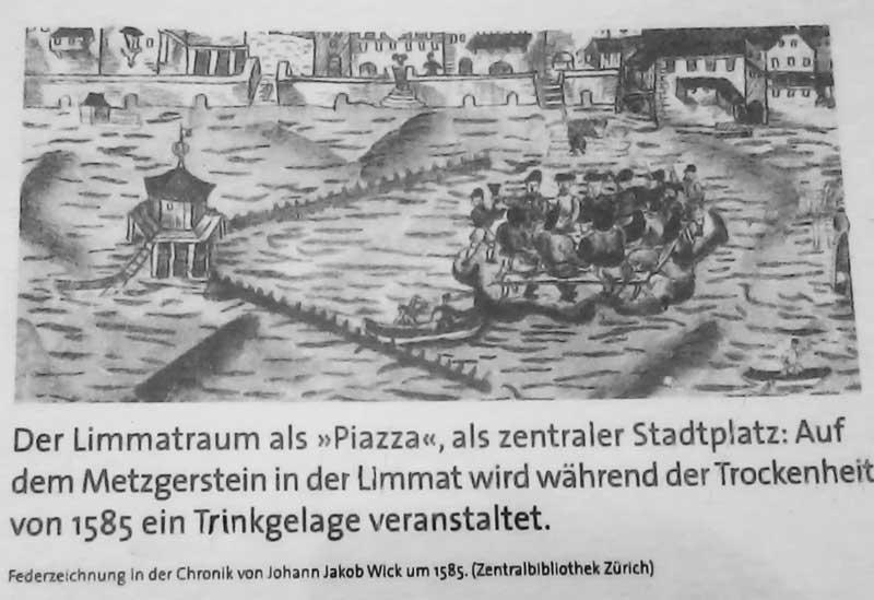 Metzgerstein Zürich, Sauffest, Besäufniss Zürich, Limmat-Fest