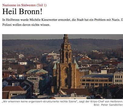 Heilbronn, Nazis, Naziszene Südwest, TAZ lügt, TAZ, Nazis Unterland, Kiesewetter, Polizistenmord Heilbronn