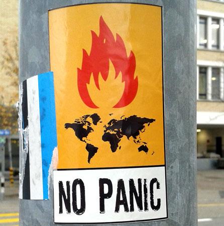 no panic, keine panik, stickermania