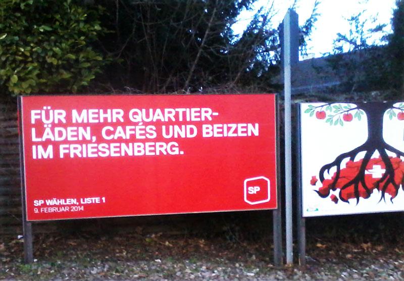 SP Zürich, Kommunalwahl Zürich, Wahlplakat SP Zürich, Wahlkampf Zürich