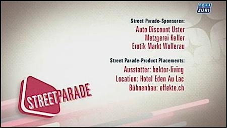 Streetparade, Street Parade Zurich, Street Parade Sponsoren, Street Parade 2012, Techno Umzug, Metzgerei Keller