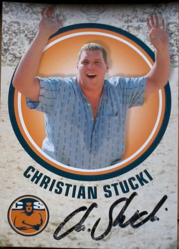 Stucki Autogrammkarte, Stucki Christian, Schwingerkönig 2013