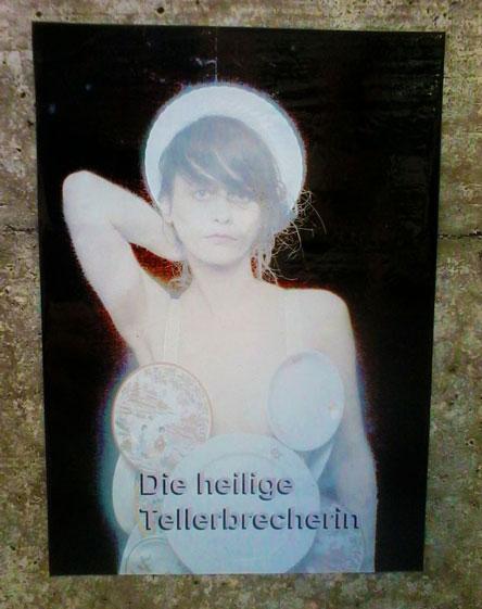 Tellerbrecherin, Kata Nikoletta Kata, Guerilla Art, Photoshooting, Artfart