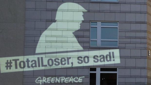 Trump Berlin Greenpeace