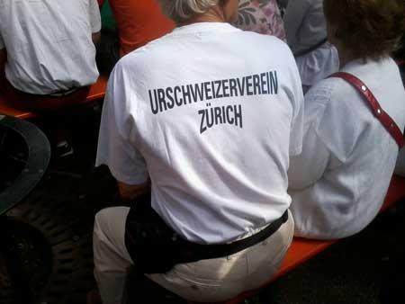 Urschweizer Verein Zürich, Urschweizer, 1. August 2014, Nationalfeier Schweiz, Bundesfeier Zürich