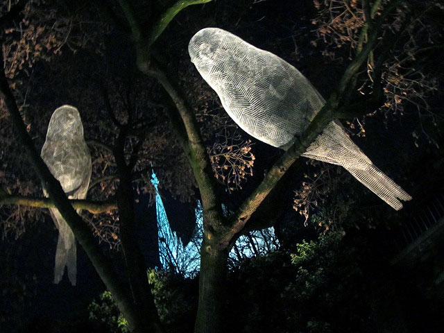Kunst Geneve, Arbre en lumière, Cédric Le Borgne