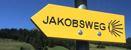 Jakobsweg, Wegweiser Jakobsweg