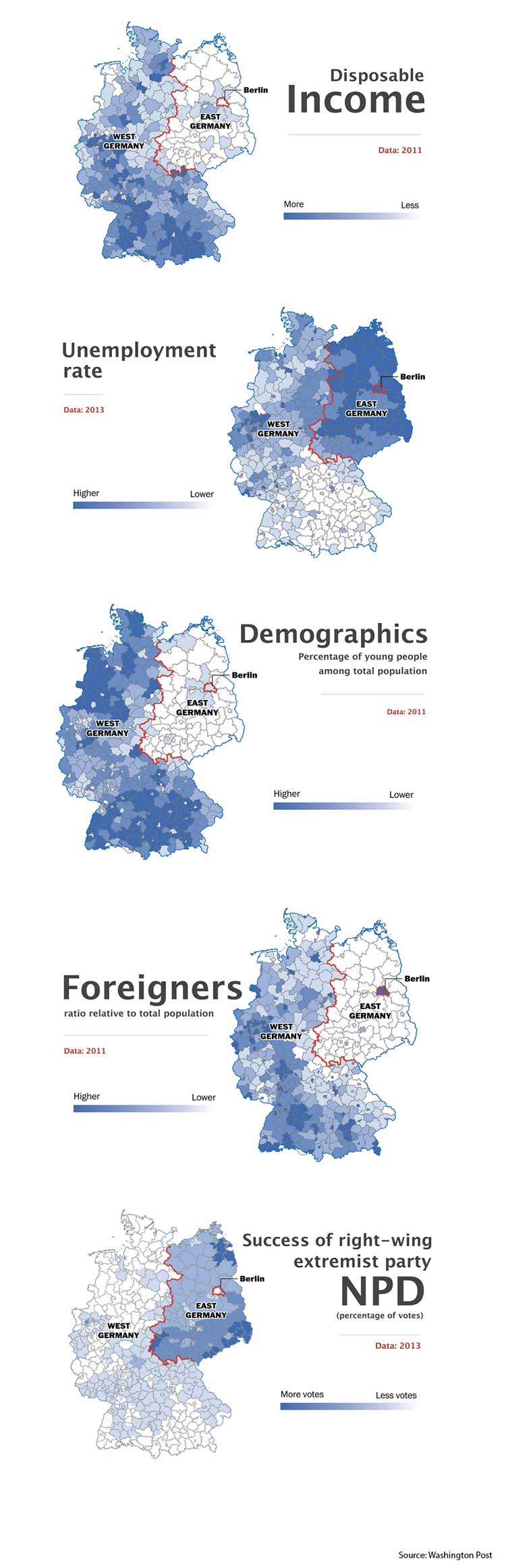 Deutschland 2014, Germany 2014, Geteiltes Deutschland, Germany divided, The invisible Berlin Wall